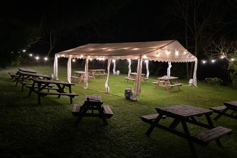 The Fox Inn Broadwell Beer Garden and Marquee 1
